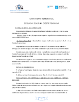 2ª División Cadete Feminina. Liga Territorial. Bases Competición 2018-19