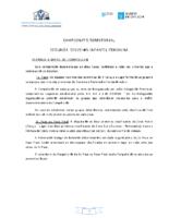 2ª División Infantil Feminina. Liga Territorial. Bases Competición 2018-19