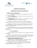 División Honra Cadete Masculina. Liga Territorial. Base Competición 2018-19