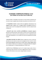 CIRCULAR 11 (Principais Novidades Competicións Tempada 19_20)