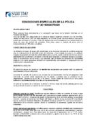 Condicións Especiales Póliza Surne.19.20