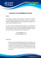 CIRCULAR 02 CTA (COMUNICACIÓN DISPOÑIBILIDADE)