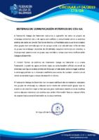 CIRCULAR 04. (MEDIOS DE COMUNICACIÓN)