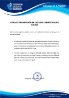 CIRCULAR Nº 17 TRAMITACIÓN LICENZAS E SEGURO