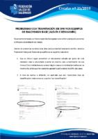 CIRCULAR Nº 25 TRAMITACIÓN LICENZAS CON DNI NOS EQUIPOS BASE (1)