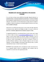 CIRCULAR Nº 26 SEGURO DEPORTIVO PROGRAMA XOGADE