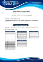 2ª DIVISIÓN CADETE FEMININA BASES COMPETICIÓN TEMP. 2020-21