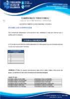 2ª DIVISIÓN XUVENIL FEMININA BASES COMPETICIÓN TEMP. 2020-21