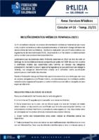 C01 – SERVIZOS MÉDICOS. RECOÑECEMENTOS MÉDICOS