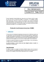 C03 – ADMINISTRACIÓN. PROTOCOLO TRANSFENCIAS BANCARIAS