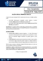 C05 – COMPETICIÓNS. BALÓN OFICIAL