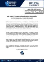 C06 – ADMINISTRACIÓN. USO LOGOTIPO FGBM, XUNTA e DEPORTE GALEGO