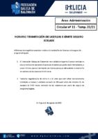 C11 – ADMINISTRACIÓN. HORARIO TRAMITACIÓN LICENZAS E LÍMITE SEGURO XOGADE