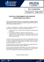 C13 – COMPETICIÓNS. APRAZAMENTO ENCONTROS POLA COVID-19