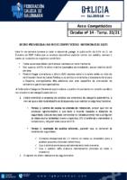 C14 – COMPETICIÓNS. AFORO PROVISIONAL INSTALACIÓNS