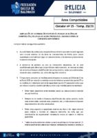 C15 – COMPETICIÓNS. AMPLIACIÓN INFORMACIÓN C14 RELATIVA AOS AFOROS