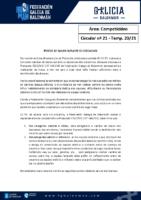 C21 – COMPETICIÓNS. TROCOS DE BANCO NO DESCANSO.